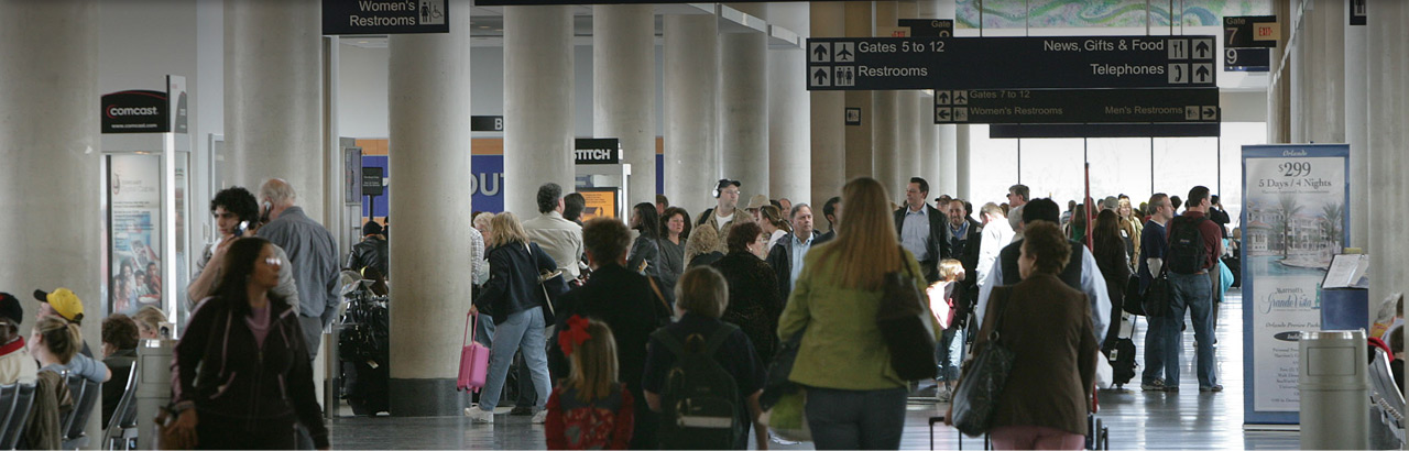10:15am. Business and leisure passengers flow through BDL.